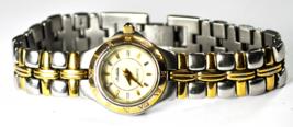 Michele Two Tone Quartz Wristwatch 21mm Stainless 72 158 SG Roman Bezel - $49.49