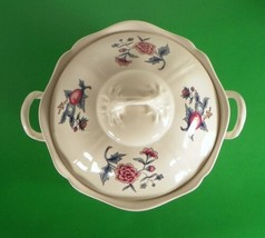 Wedgwood Williamsburg POTPOURRI Round Covered Vegetable Bowl NK510 Queen's Ware - $73.99