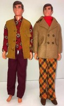 Barbie Ken Dolls 1968 lot of Two Vintage toys with clothes flex chest rare - $112.19