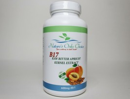 100% Organic Vitamin B17 600mg from Natural Bitter Apricot Kernel Seeds USA Made - $23.95