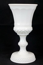"Westmoreland Milkglass Giant Paneled Goblet Vase Footed 9.5"" Circa 1970's - $47.89"