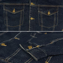 NYT Men's Classic Button Up Cotton Sherpa Trucker Denim Jean Jacket image 4