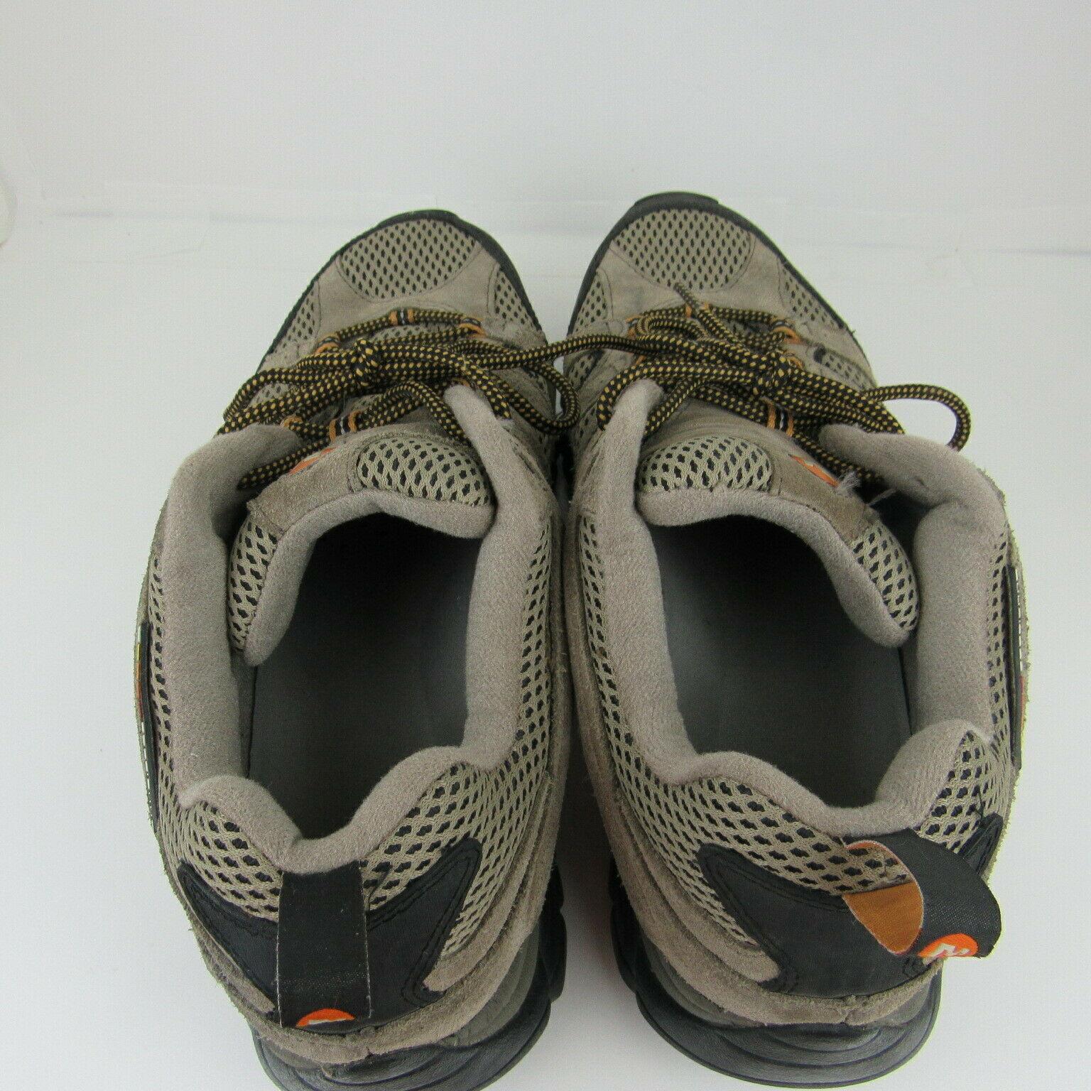 Merrell Moab 2 Ventilator Walnut Hiking Shoe Mens Size 13 EU 48 Laces Beige