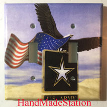 USA U.S. Army Eagle Flag Light Switch Power Outlet Cover Wall Plate Home Decor image 4