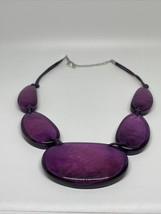Vintage large purple necklace - $49.49