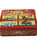 Barnums Animals Crackers Nabisco 85th Anniversary Tin Vintage 1987 Red C... - $17.81