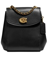 Coach Parker 16 Leather Convertible Mini Backpack Crossbody ~NWT~ Black ... - $292.05