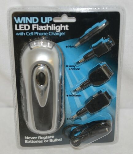 Buffalo Tools FLCR4 Wind Up LED Flashlight Cell Phone Charger