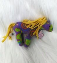 Whimzy Pet Horse Saturn  Purple Green Circles Hearts 31204  Plush Toy B201 - $6.00