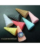 8 Finger ring displays pastel acrylic cone ring displays ring stands JD050 - $5.95
