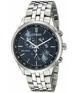 Citizen Men's Eco-Drive Chronograph Stainless Steel Watch with Date, AT2... - $380.24