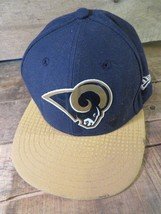 St Louis RAMS New Era Skyline Fitted Size 6 1/2 Adult Hat Cap - $8.90