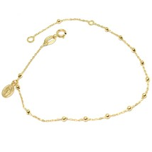 Mini Bracelet Yellow Gold or White 750 18K, Rosary, Medal Miraculous, 18 CM - $125.48