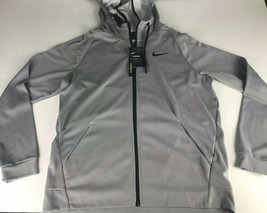 nike therma fit hoodie Mens L Gray Full Zip  - $37.39