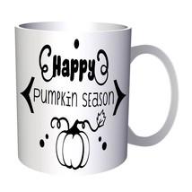 Happy Pumpkin Season Black 11oz Mug t584 - $203,52 MXN