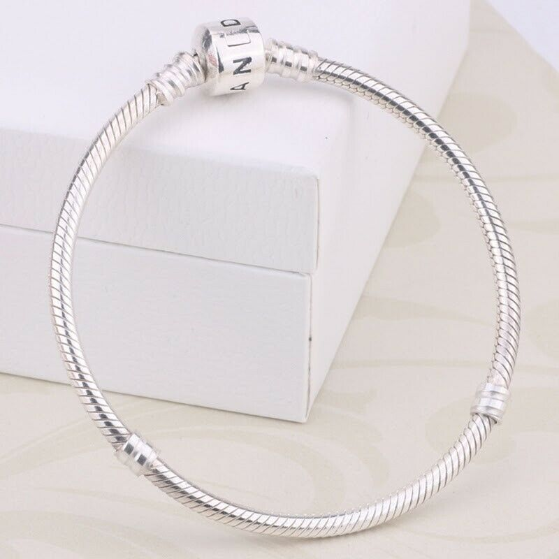 Primary image for Pandora 925 Sterling Silver Bangle Beads Bracelet Luxury Unisex Fashion Charm