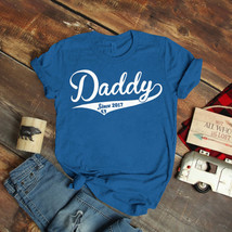 Mens Daddy Since Dad Baby Soon 2017 2018 T-Shirt Birthday Funny Ideas Gi... - $15.99+