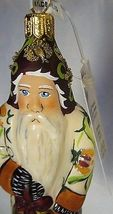 Vaillancourt Folk Art White Kissing Ball Father Christmas,Polish Ornament image 3
