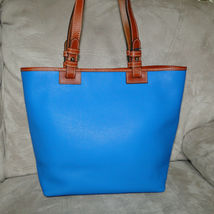 Dooney & Bourke Pebble Leather Convertible Shopper ICE BLUE image 4
