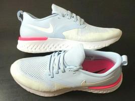 Nike Womens Odyssey React 2 Flyknit Running Shoes Hydrogen Blue Hyper Pi... - $62.99