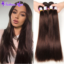 Dark Brown #2 Brazilian Straight Hair Weave 1 Bundles 100% Human Hair Ex... - $5.21+