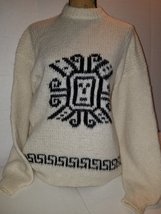 Alpaca wool sweater precolumbian design unisex L - $55.00
