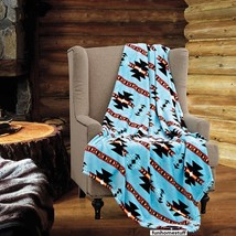 TURQUOISE Native Luxury Soft Light Weight Fleece Cashmere Throw Blanket ... - $29.95