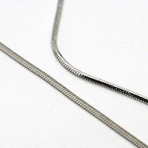 Necklace Silver 925, Chain Glossy, Heart Long and Flat, Pendant image 4
