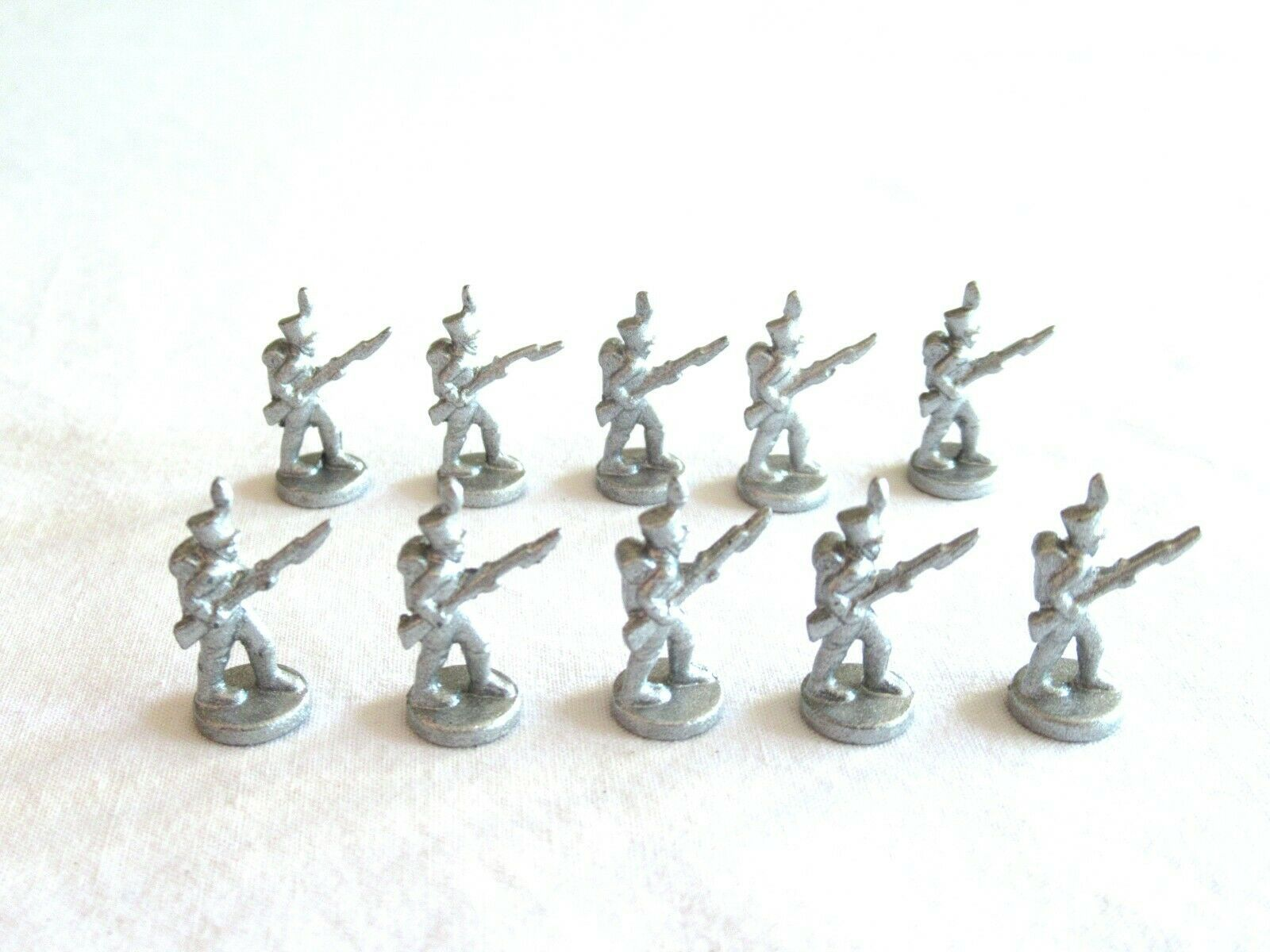 Primary image for 10x Risk 40th Anniversary Edition Board Game Metal Soldier Infantry Silver Army