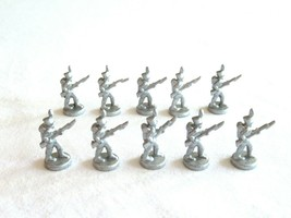 10x Risk 40th Anniversary Edition Board Game Metal Soldier Infantry Silver Army - $16.99