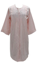 NEW Miss Elaine Snap Buttons Front Woven Jacquard Robe 851702 Pink Medium - ₨3,176.44 INR
