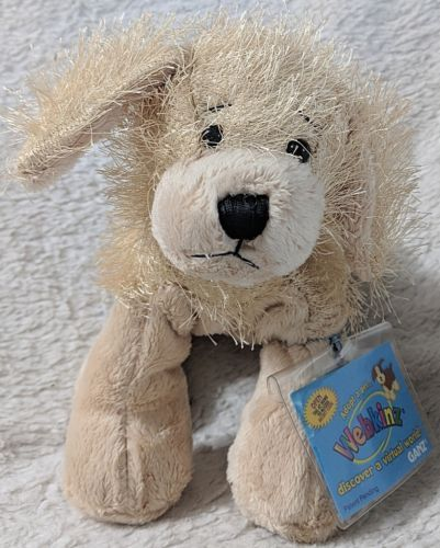 GANZ HM010 Webkinz 8 Inch Golden Retriever Plush Small Dog Ages 3 And Up