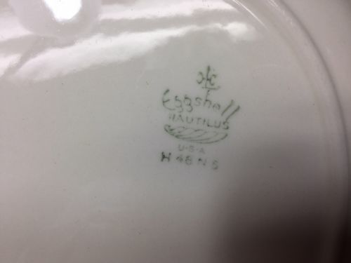 "13"" Homer Laughlin ARISTOCRAT Oval Platter Eggshell Nautilus 1948"