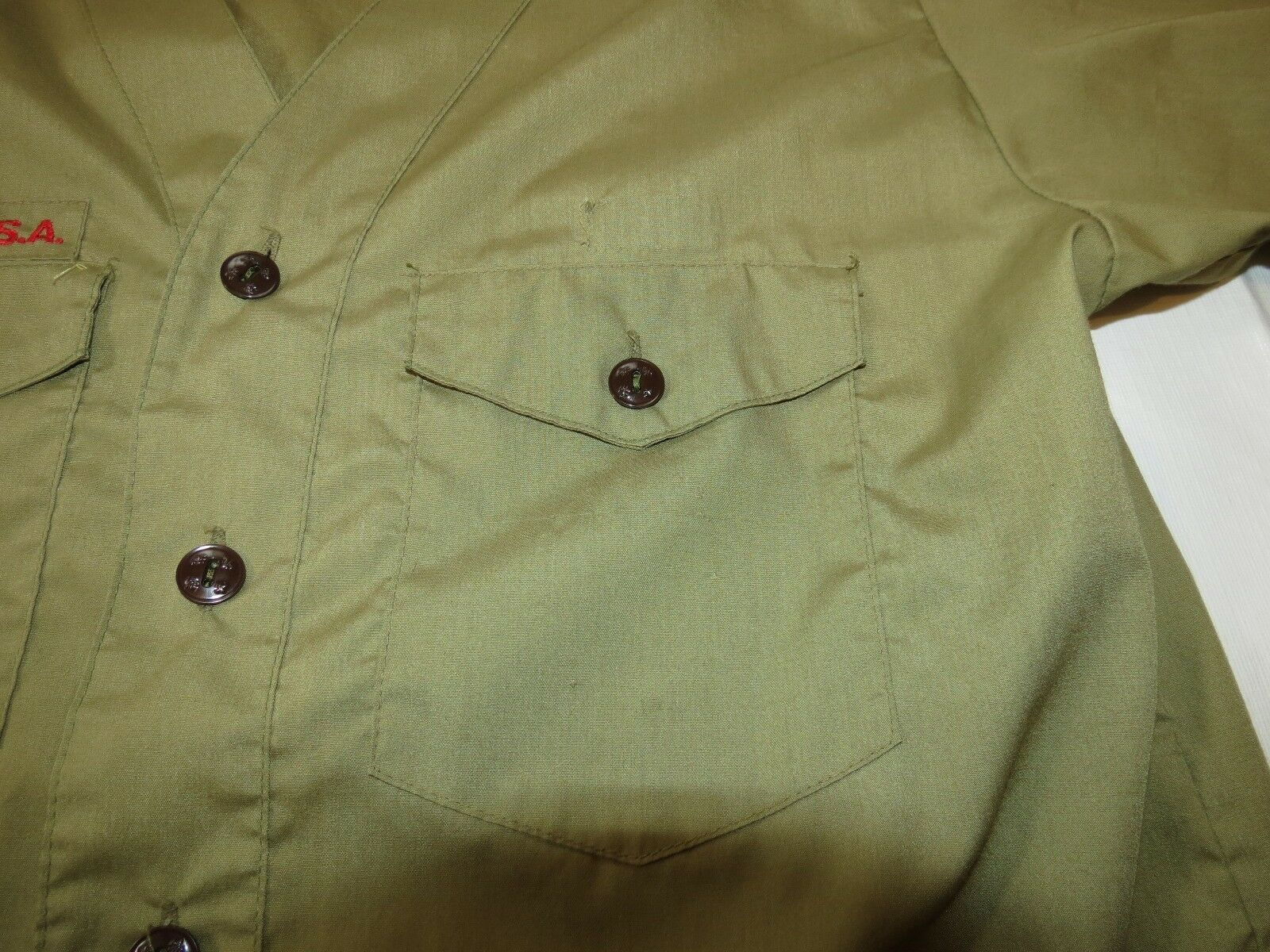 Boy Scouts of America Official Shirt boys youth short sleeve button up shirt image 5