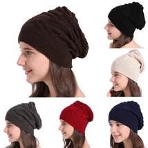 Women's knitted hats female Baggy Warm Winter Wool Knit Ski Beanie Caps ... - $10.80