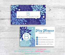 Beautycounter Business Cards, Personalized Beautycounter Business Cards,... - $9.00