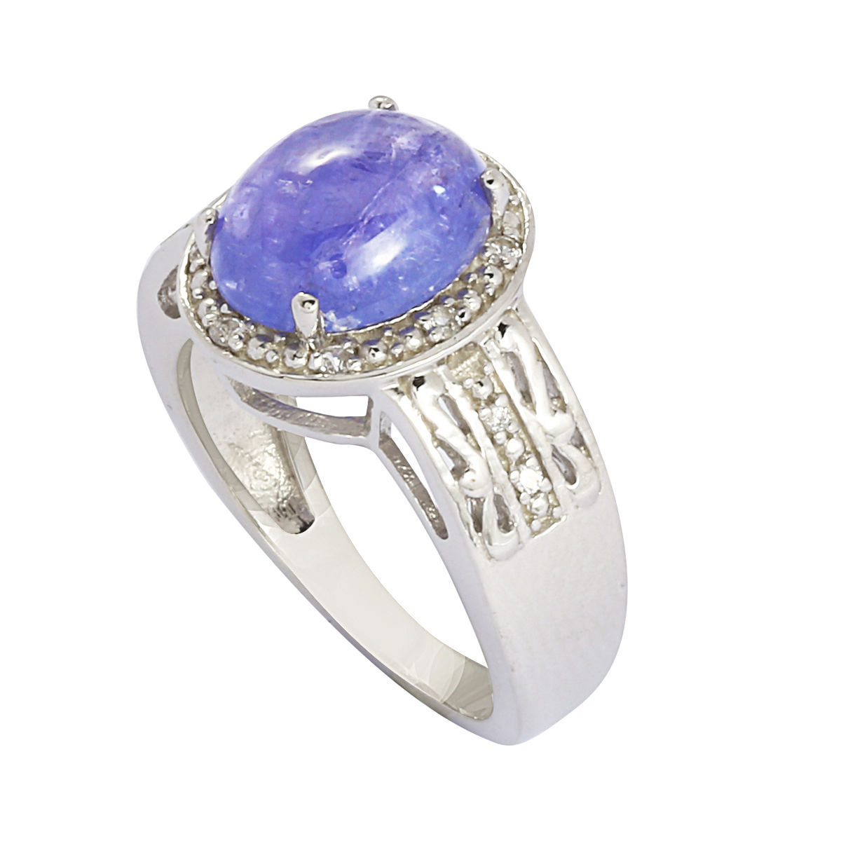 New 4.20 Ct Tanzainte Stone 925 Sterling Silver Jewelry Ring Sz 8 SHRI0567