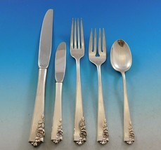 Garnet Rose by Lunt Sterling Silver Flatware Set for 8 Service 44 pieces Scarce - $2,650.00