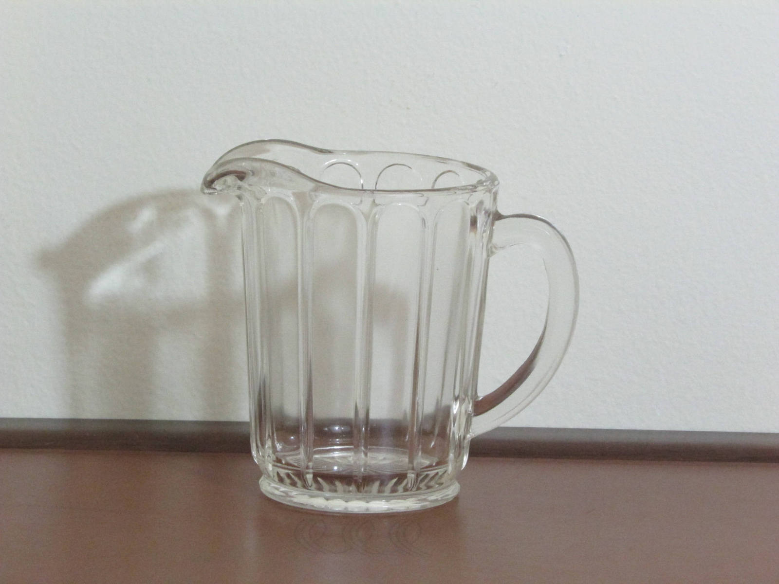 Primary image for Vintage Small Hazel Atlas Clear Glass Pitcher 5 Inch Height