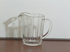 Vintage Small Hazel Atlas Clear Glass Pitcher 5 Inch Height - $12.00