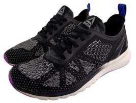 Reebok Print Smooth Clip Ultraknit Black White Running Training Shoes Wo... - $23.04