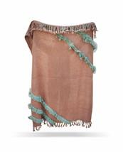 Blush Color Sofa Throw, Decorative Chic Blanket, Cotton Handmade Printed... - €53,47 EUR
