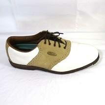 FootJoy Saddle Golf Shoes Softjoys Sierra Women Size 11.5 M White Tan 58859 - $17.79