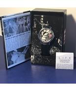 VINTAGE LIFE MAGAZINE WRISTWATCH WATCH NIB BOX VICTORY CELEBRATIONS NAVY... - $49.45