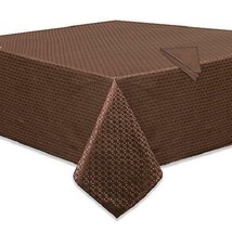 "NEW IN PACKAGE  Marquis Riverside 52"" X 70"" Oblong Tablecloth, Chocolate... - $49.49"