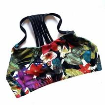 Mossimo Supply Co Multi-Color Floral Sports Bra XS Strappy Back - $11.97