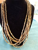 Chico's Gold Beads 6 strand necklace - $17.75