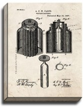 Voltaic Battery Patent Print Old Look on Canvas - $39.95+