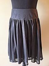 Express Black Metallic Full Pull On Short Party Skirt size S M SK5 - $19.95