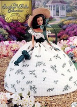 Lawn Party Southern Belle Outfit for Barbie Doll Crochet Pattern Leaflet - $9.87